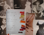 Mood board, allocation silk dupion swatches to Fabergé eggs. © Taylor-Davies-Design