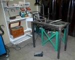Welding stainless steel frame © Taylor-Davies Design